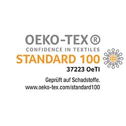 Öko-Tex Standard 100 - schadstofffrei und gesundheitlich einwandfrei